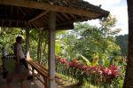 The veranda where coffee tasting takes place