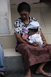 Grandma (Ketut's Mom) with the newest member of the family